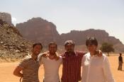 Backpackers in Wadi Rum
