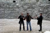 İranlı arkadaşlarla Aspendos'ta